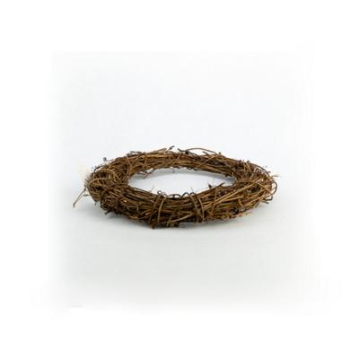 Venyigekoszorú barna 20 cm
