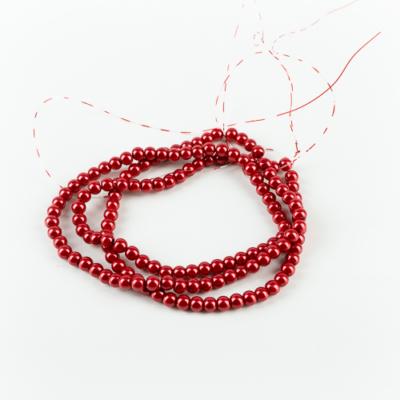 Viaszgyöngy  6 mm piros