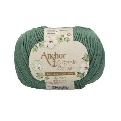 Anchor Organic Cotton fonal lombzöld
