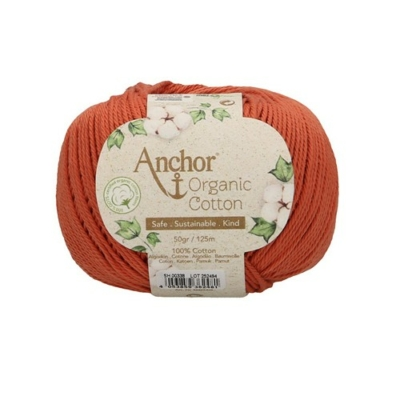 Anchor Organic Cotton fonal terrakotta