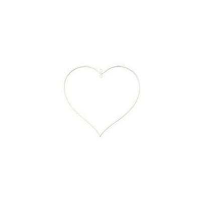 Díszíthető fém szív 13 cm