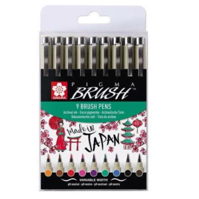Sakura Pigma Brush ecsetfilc készlet 9 db