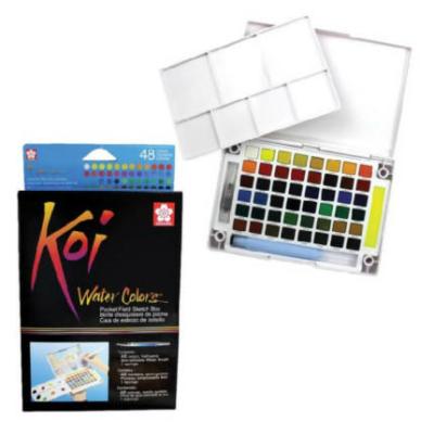 Sakura Koi  akvarellfesték készlet 48 db