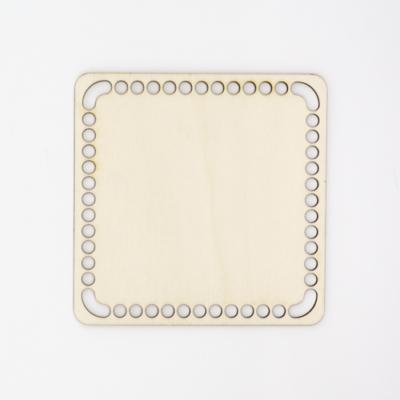 Fa horgolható alap négyzet 16×16 cm