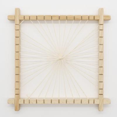 Pókszövő keret fa 18×18 cm-es