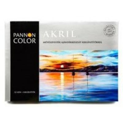 Pannoncolor akrilfesték művész mesterkészlet 12 szín + 6 kiegészítő