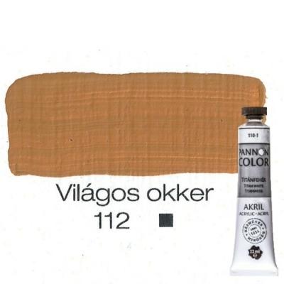 Pannoncolor akrilfesték világos okker 112 22 ml