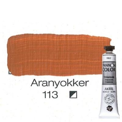 Pannoncolor akrilfesték aranyokker 113 22 ml