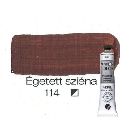 Pannoncolor akrilfesték égetett sziéna 114 22 ml