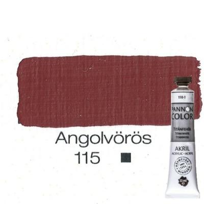 Pannoncolor akrilfesték angolvörös 115 22 ml