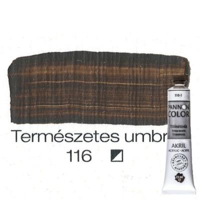 Pannoncolor akrilfesték természetes umbra 116 22 ml