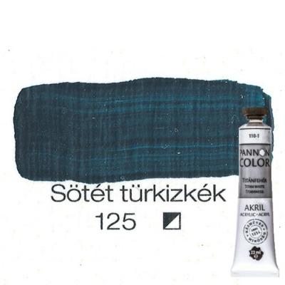 Pannoncolor akrilfesték sötét türkizkék 125 22 ml