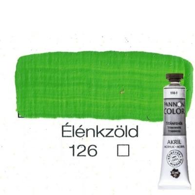 Pannoncolor akrilfesték élénkzöld 126 22 ml