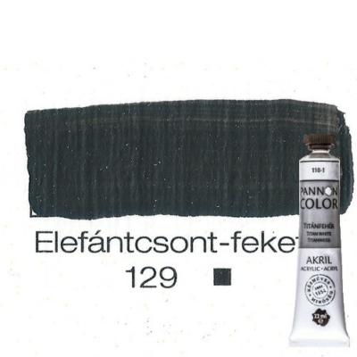 Pannoncolor akrilfesték elefántcsontfekete 129 22 ml