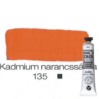 Pannoncolor akrilfesték kadmiumnarancs 135 22 ml
