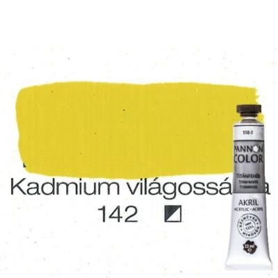 Pannoncolor akrilfesték permanent világossárga 142 22 ml