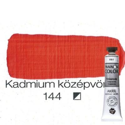 Pannoncolor akrilfesték kadmium középvörös 144 22 ml