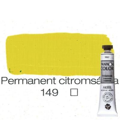 Pannoncolor akrilfesték permanent citrom 149 22 ml