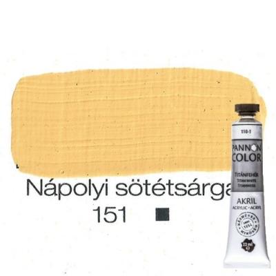Pannoncolor akrilfesték nápolyi sötétsárga 151 22 ml