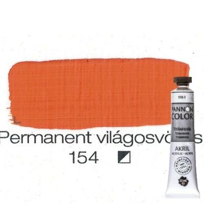 Pannoncolor akrilfesték permanent világos vörös 154 22 ml