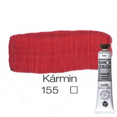 Pannoncolor akrilfesték kármin 155 22 ml