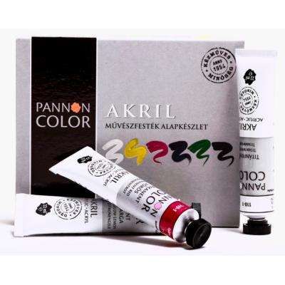 Pannoncolor akrilfesték művész alapkészlet 6×22 ml