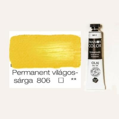 Pannoncolor olajfesték világossárga 806 22 ml