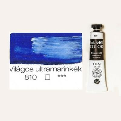 Pannoncolor olajfesték világos ultramarinkék 810 22 ml