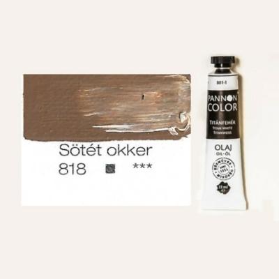 Pannoncolor olajfesték sötét okker 818 22 ml