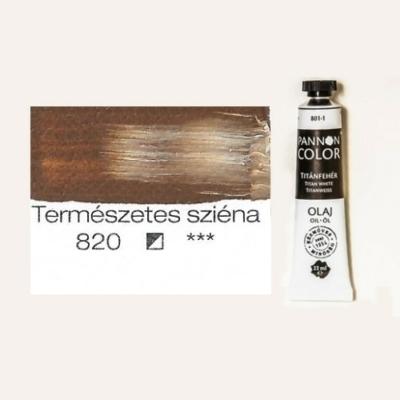Pannoncolor olajfesték természetes sziéna 820 22 ml