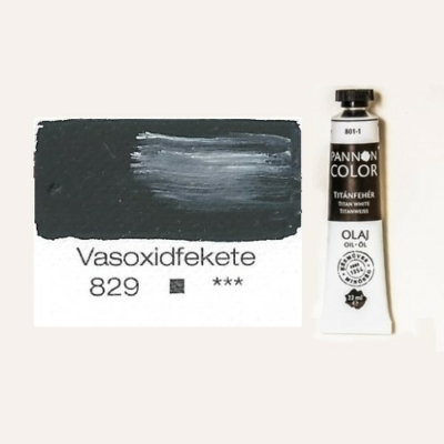 Pannoncolor olajfesték vasoxid fekete 829 22 ml