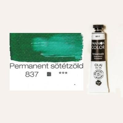 Pannoncolor olajfesték permanent sötétzöld 837 22 ml