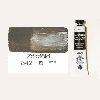 Pannoncolor olajfesték zöldföld 842 22 ml