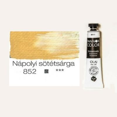 Pannoncolor olajfesték nápolyi sötétsárga 852 22 ml