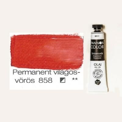 Pannoncolor olajfesték permanent világos vörös 858 22 ml