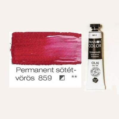 Pannoncolor olajfesték permanent sötétvörös 859 22 ml