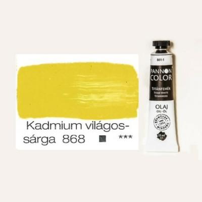 Pannoncolor olajfesték kadmiumvilágossárga 868 22 ml