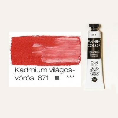 Pannoncolor olajfesték kadmium világosvörös 871 22 ml