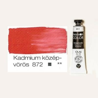Pannoncolor olajfesték kadmium középvörös 872 22 ml