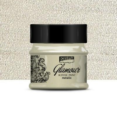Pentart Glamour akrilfesték platina 50 ml