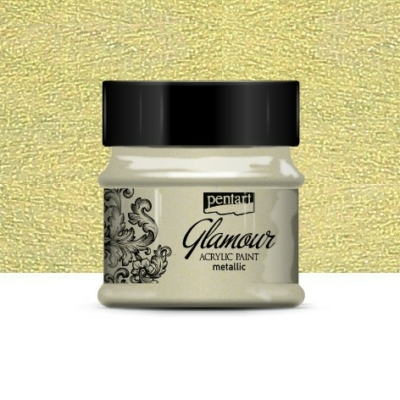 Pentart Glamour akrilfesték zöldarany 50 ml