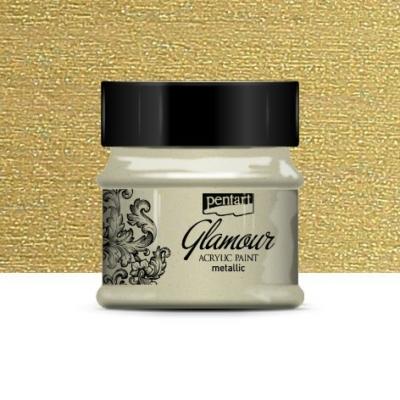 Pentart Glamour akrilfesték antik arany 50 ml