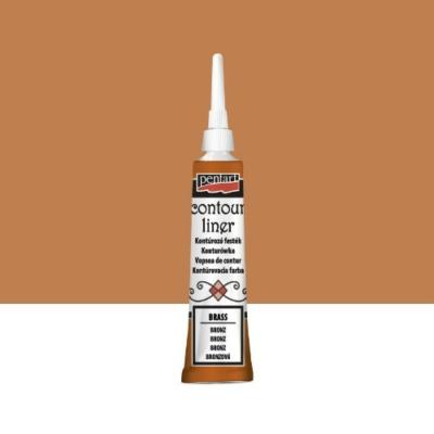 Pentart kontúrozó festék univerzális metál bronz 20 ml