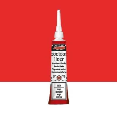 Pentart kontúrozó festék univerzális piros 20 ml