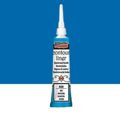 Pentart kontúrozó festék univerzális kék 20 ml