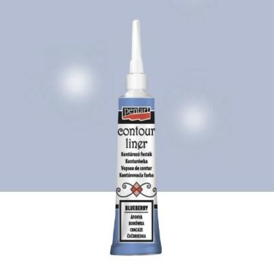 Pentart kontúrozó festék univerzális csillogó áfonya 20 ml