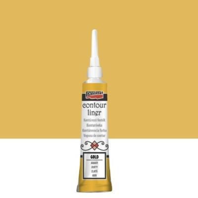 Pentart kontúrozó festék univerzális metál arany 20 ml