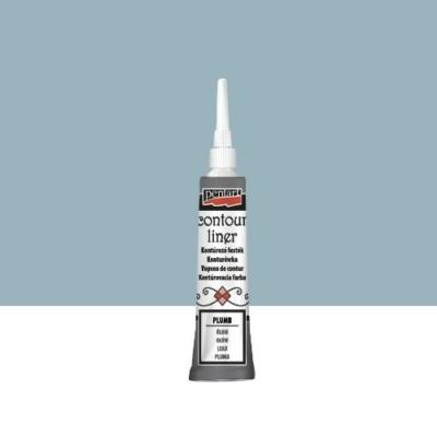 Pentart kontúrozó festék univerzális metál ólom 20 ml