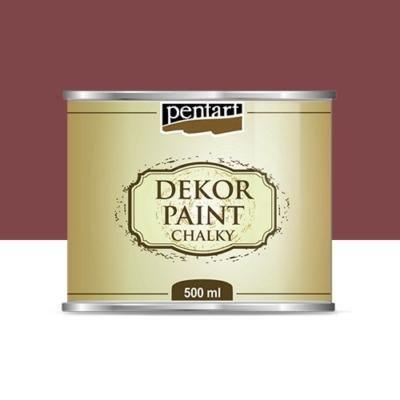 Pentart dekor soft krétafesték 500 ml burgundi vörös