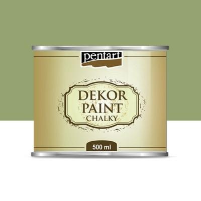Pentart dekor soft krétafesték 500 ml olíva